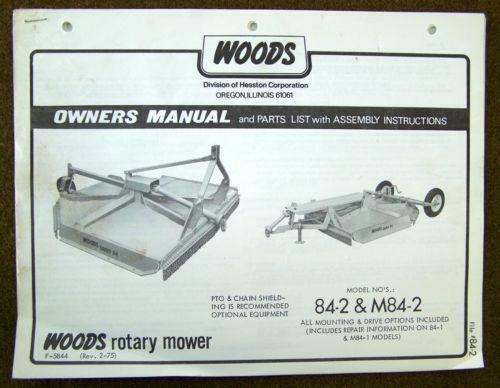 Woods Rotary Mower Ebay