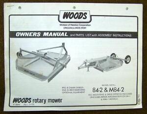 Woods Cadet 84 Parts Manual
