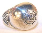 Mens Large Silver Ring