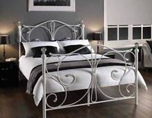 Brand New EH1071 Double/Queen/King size White Metal Bed Clayton South Kingston Area Preview