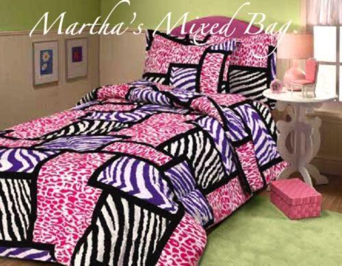 Pink Black Zebra Bedding Ebay