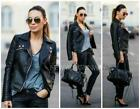 Black Leather Jacket Zip