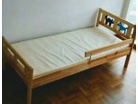 As new Ikea Kritter Toddler / Junior Bed and Spring Mattress (can be delivered)