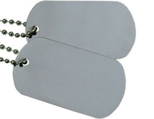 Military-Spec-Army-Blank-Matte-Dog-Tag-Set-w-Stainless-Steel-Ball-Chains