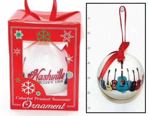 CHRISTMAS ORNAMENT NASHVILLE, TENNESSEE 2021 GUITARS FOR YOUR TREE