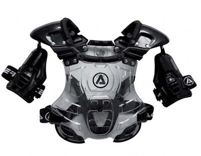 Acerbis youth mx bomber roost chest protector body armour black clear one size
