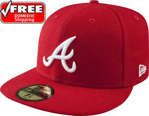 New-Era-59FIFTY-ATLANTA-BRAVES-Red-White-Cap-MLB-Baseball-5950-Fitted-Hat