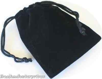 Jewelry Pouch Velourvelvet Type Pouch Lot Of 5 Black Color
