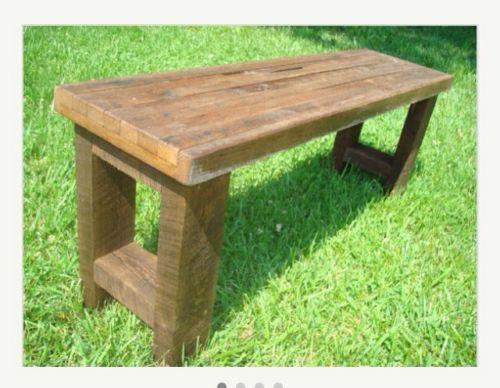Reclaimed Wood Bench Ebay