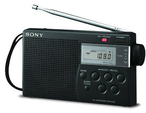 New Sony Portable ICF-M260 AM/FM Radio Digital Tuning