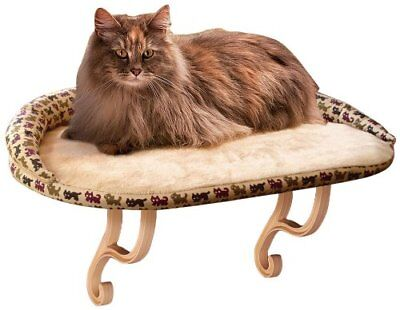 Large Deluxe Cat Window Sill Perch Kitten Furniture Kitty Bed Soft Padded Print Padded Cat Window Perch