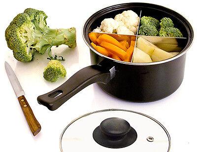 Vier Gerichte in einem Topf: Der Alu-Trenner macht's möglich. (© Great Ideas by Post)