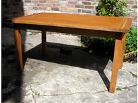 Handcrafted inlayed oak and beach solid wood dinning table 6-8 seater