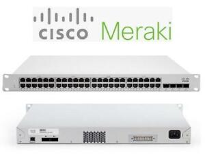 NEW CISCO MERAKI ETHERNET SWITCH MS225-48LP-HW 234762387 PC COMPUTER NETWORKING 48 ports Rack-mountable