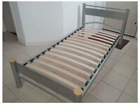 Steel Frame Single Bed with draws