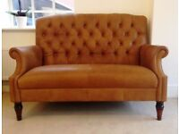 Laura Ashley Lancaster Colorado Tan Brown Leather Sofa RRP £2200