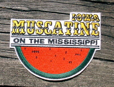 MUSCATINE IOWA On The Mississippi WATERMELON Machine-Embroidered PATCH