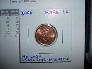 Rare Canadian Penny 2006 1 Cent
