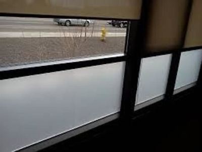 "60"" X 25 FT ROLL WHITE FROST FILM PRIVACY FOR OFFICE,BATH,GLASS DOORS,MATTE FILM"