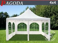 Marquee Pagoda 4 x 4 M off white Brand New - Never Used - Still Boxed (arrived too late for event)