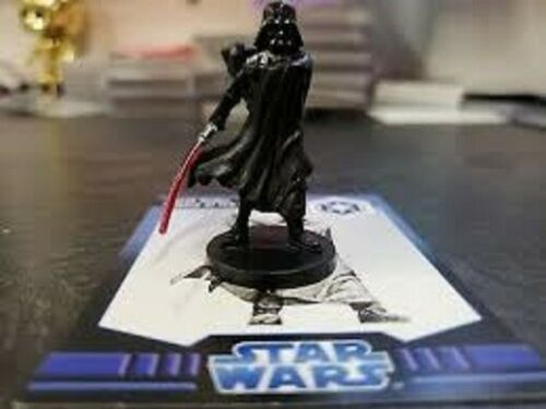 Star Wars Mini -  DARTH VADER  #S4/6  (Imperial Lord - RARE FIGURE with CARD!!)