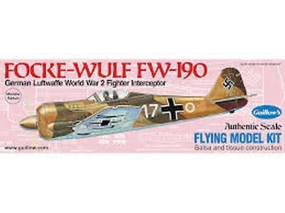 Balsa Wood Airplane Kits (Guillow's Flying Balsa Wood Model Airplane Kit, WWII Folke-Wulf Fw 190 )