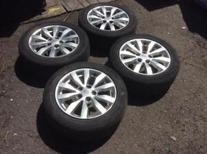 Set MAG 5X114.3  KIA+ pneus d'été 205/55/16!!!