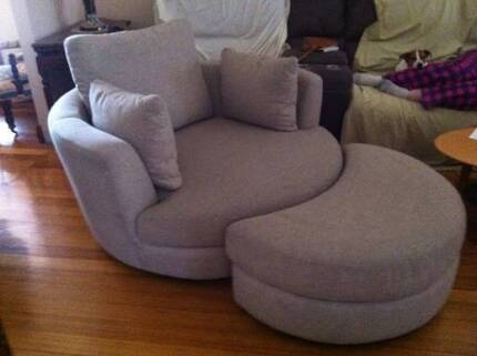 Snuggle Swivel Accent Chair & Ottoman Retails $2600.00 Oakden Port Adelaide Area Preview