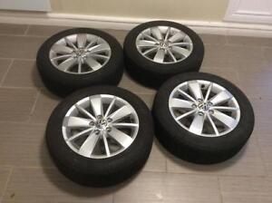 SET NEUF : MAG16 P- d'origine VW+pneus BRIDGESTONE casi-neuf