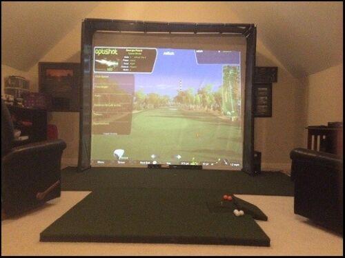 Golf Simulator Impact Screen SUPERTEX 120 x 105 * NEW KNOTCHED VERSION**