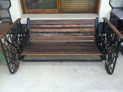 Vintage Cast Iron Love Swing Swing Bench Antique Oakden Port Adelaide Area Preview