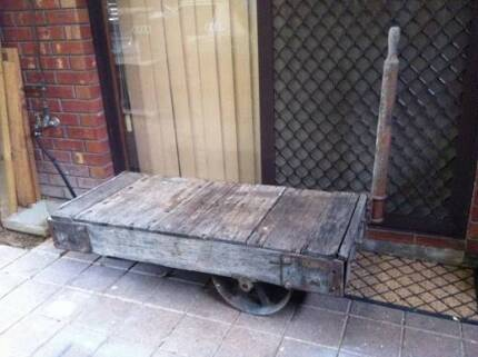 Antique Railway Cart From Pt Adelaide Docks Coffee Table Display Oakden Port Adelaide Area Preview
