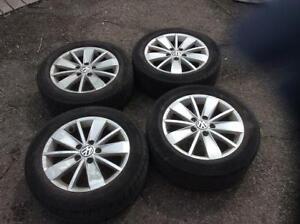 MAG D'origine Volkswagen 16 pouce+ Pneus Pirelli 205/55/16 !!