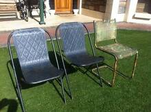 3 Outdoor Industrial Steel Mesh Chairs Oakden Port Adelaide Area Preview