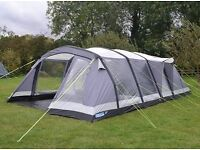 Kampa Croyde 6 Air tent with additional carpet and ground sheet