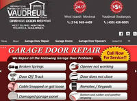 Garage Door Repairs / Openers / Springs / Parts - West Island
