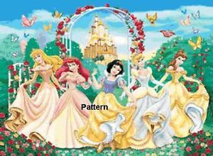 Disney-Princess-4-Cross-Stitch-Pattern-Paper-version-or-PDF-files