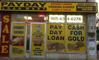 PAYDAY LOAN & CHEQUE CASHING