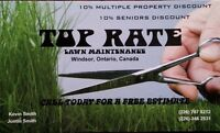 Top Rate Lawn Maintenance! Call us today!!