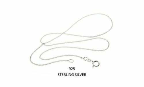 """New .925 Italian Sterling Silver Box Chain - 16"""" Length + Jewelry Bag"""
