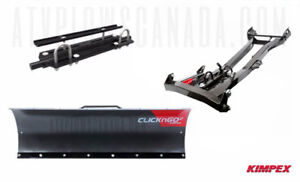 "60"" CLICK N GO Complete Snow Plow System -- 1 year warranty."