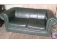 Real leather Chesterfield style with possible delivery