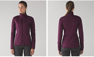 "Lululemon Plum ""Run For Cold Jacket"" Size 4 New w/Tags"