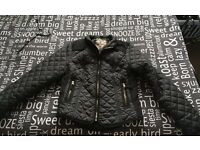 Black new look coat - Size 12