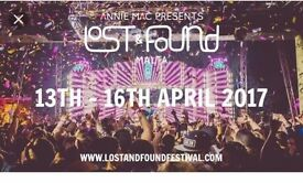 Lost & found festival ticket only £50