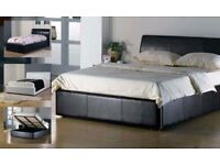 🔥💥🚚**BRAND NEW'' **🔥💥🚚- 4ft6 Double/4ft Small Double Leather Ottoman STORAGE Bed WITH Mattress