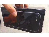 APPLE IPHONE 7 128GB UNLOCKED BRAND JET BLACK NEW SEAL BOX 12 Month APPLE WARRANTY & SHOP RECEIPT