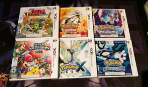 20+ Nintendo 3DS games for sale.