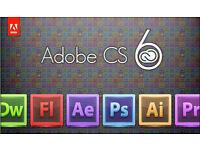 ADOBE PHOTOSHOP, INDESIGN, ILLUSTRATOR CS6,etc... PC/MAC