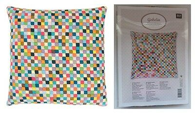 RICO CUSHION TAPESTRY KIT 40 x 40 cm 100% Wool Thread Squares Gift FREEPOST